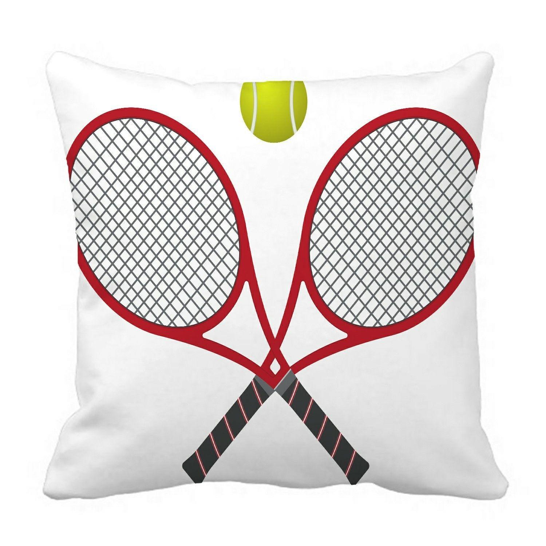 Tennis racquet with a ball Pillow?Case?Pillow?Cover?Cushion?Cover