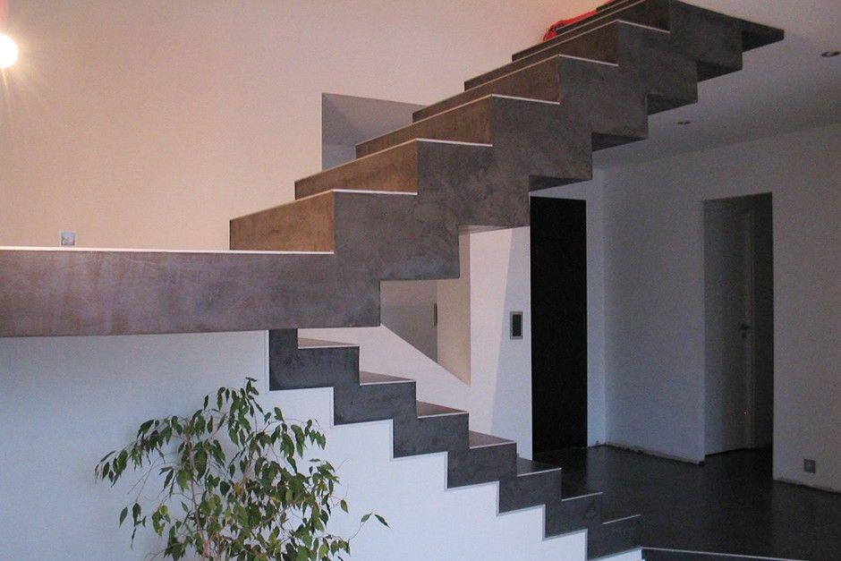 Realisation Escalier Beton Cire Escalier Beton Escalier Beton