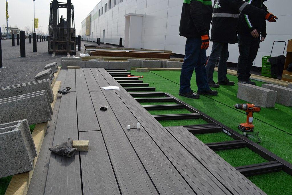La pose La réalisation du0027une terrasse en bois Pinterest Pose