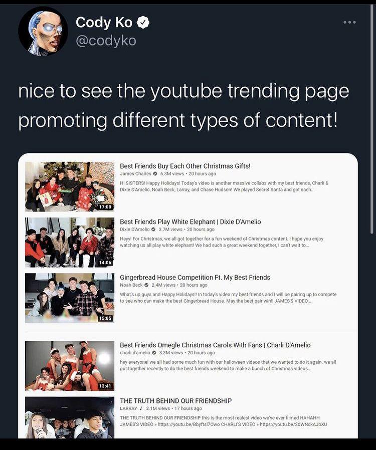 Pin By Jillian B On Memes Youtube Trending Cody Ko Youtube