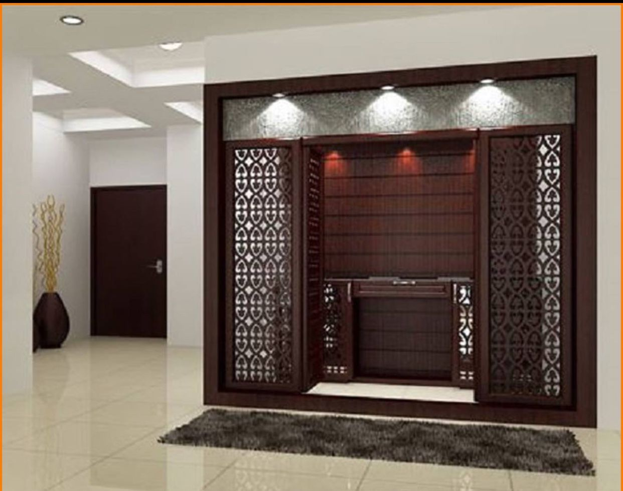 These Modern Pooja Room Designs Will Fill Your House with Divinity - Pooja Room and Rangoli Designs & Pin by SRI Sri on pooja room | Pinterest | Puja room Room and House