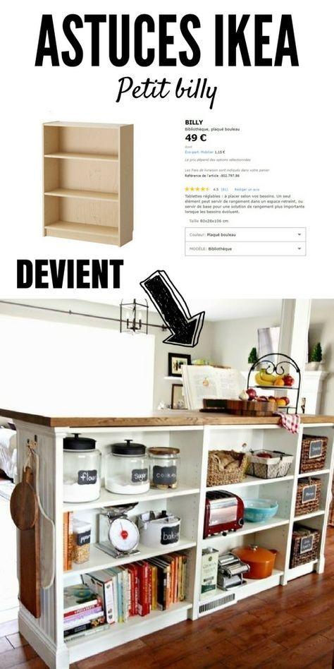 Petit Billy En Ilot Central Ikea Diy Diy Furniture Home Diy