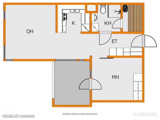 47,5m² Hiekkalaiturintie 17, 00980 Helsinki Kerrostalo kaksio vuokrattavana | Oikotie 9319128