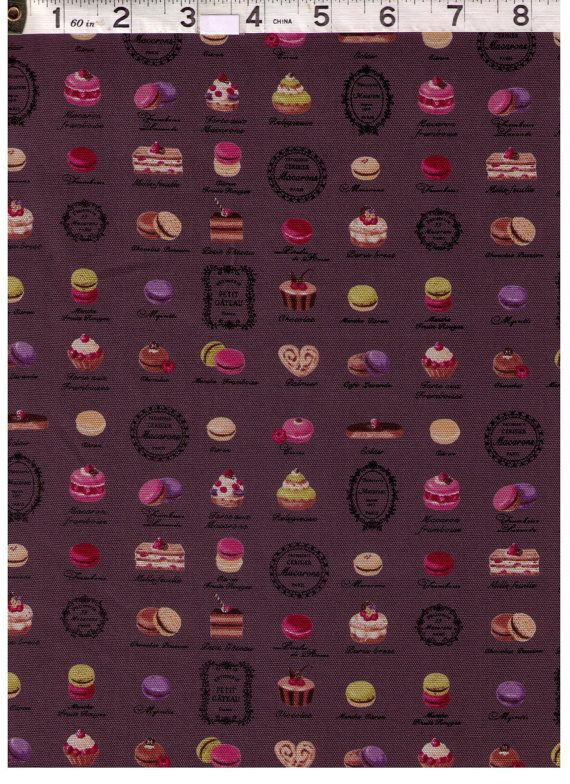 HALF YARD Yuwa Fabric Mini Paris French by fabricsupply