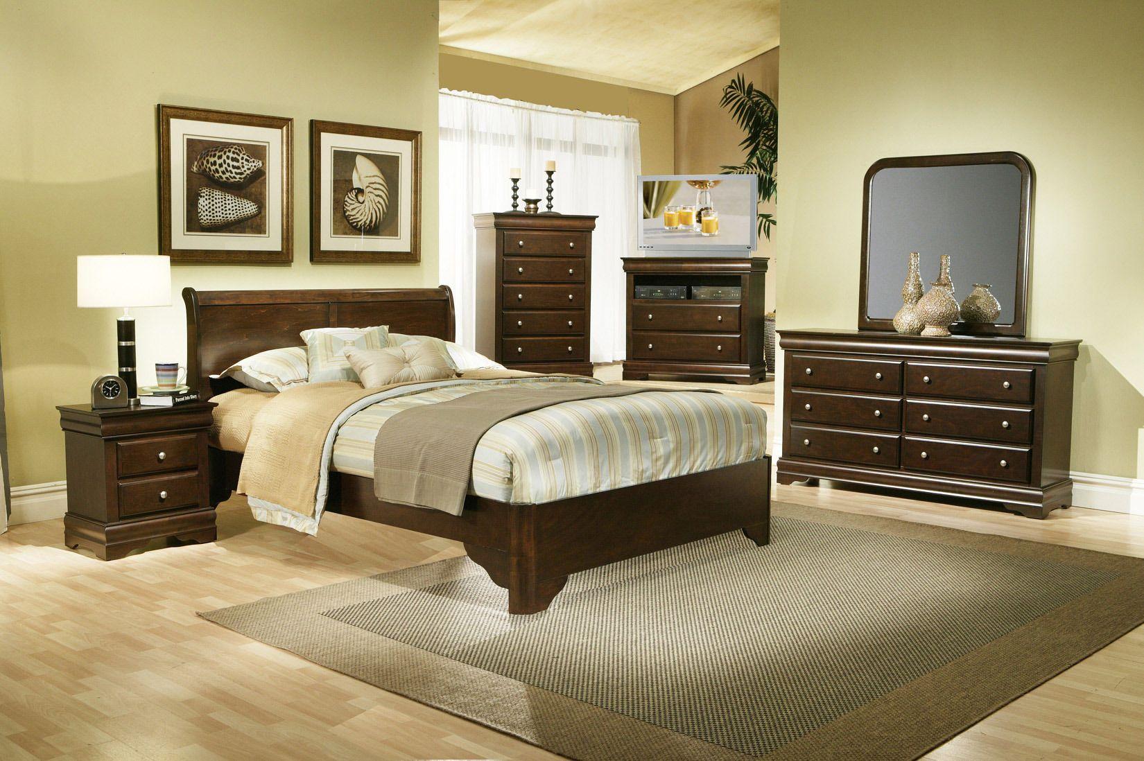 Chesapeake Sleigh Bedroom Set Alpine Furniture Home