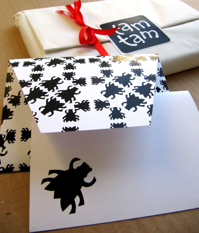 printable diy envelope and greeting card set pattern no