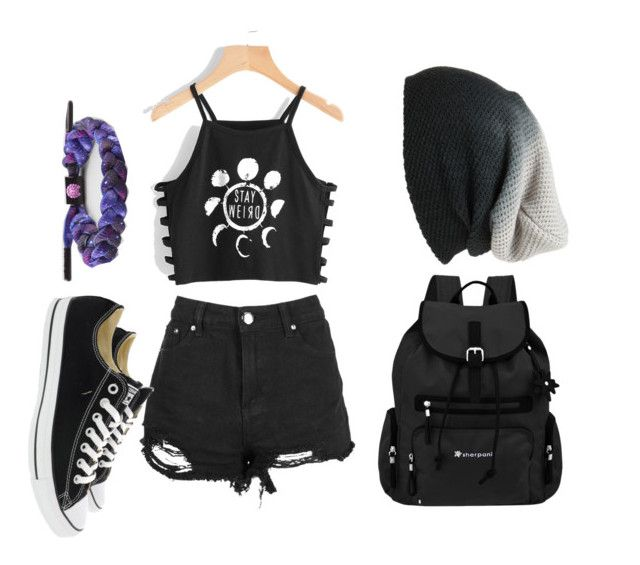 """""""Untitled #65"""" by almendratonta ❤ liked on Polyvore featuring Boohoo, Converse, BP., Sherpani and Rastaclat"""