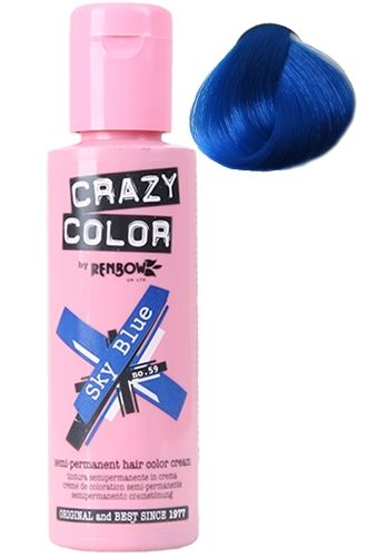 Crazy Color Sky Blue Hair Colour Can I Get Away With A Blue