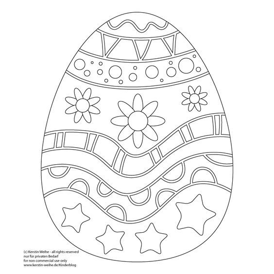 Osterei Malvorlage Easter preschool Easter coloring
