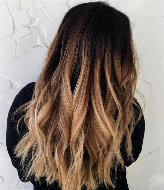 Dark Brown To Sandy Blonde Ombre Blondeombre Ombre Hair In 2019