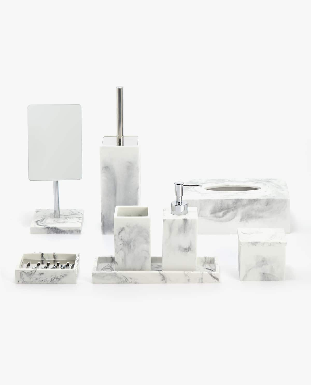 Accessori Bagno In Marmo.Set Da Bagno Effetto Marmo Accessori Per Bagno Set Da Bagno Bagni In Marmo Bianco