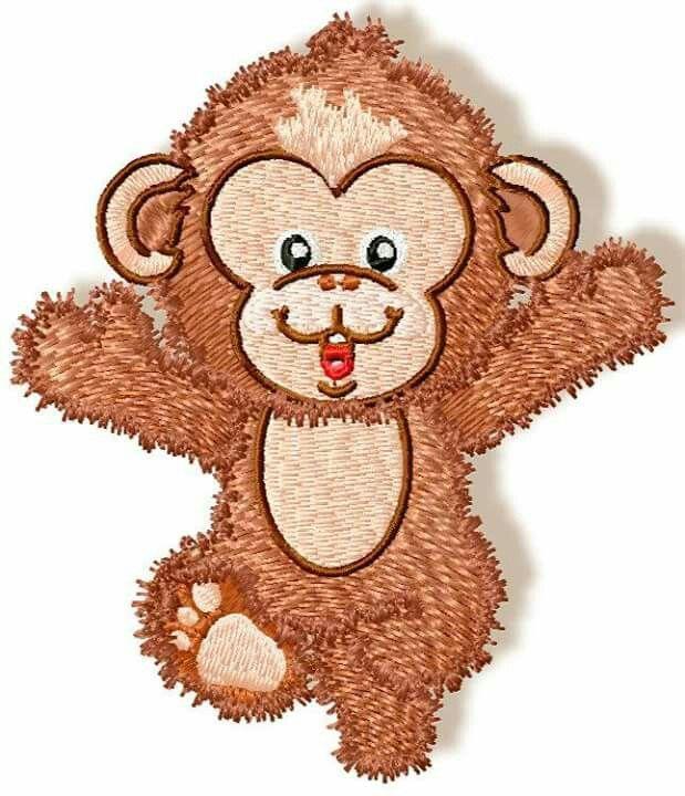 Cute Baby monkey www.pamelasembroidery.com