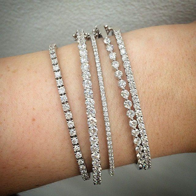 Definition Of Classic And Yet So Many To Choose From Tennis Bracelet Diamond Diamond Bracelet Diamond Bracelet Design