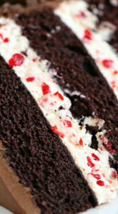 Christmas Desserts Pinterest.Chocolate Candy Cane Cake