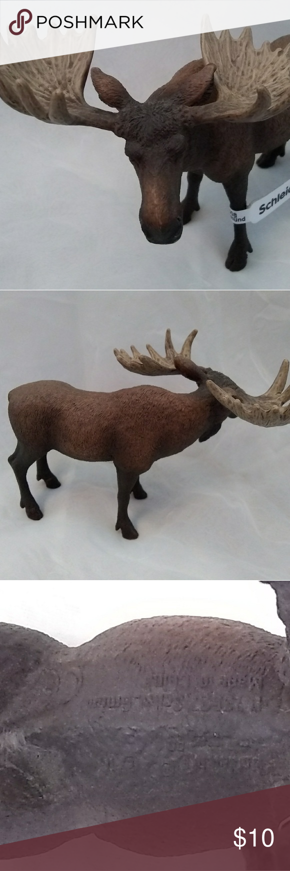 Pewter Bull Moose Figurine