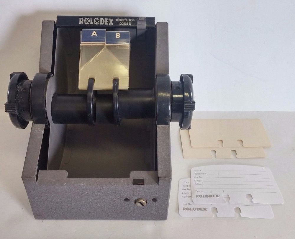 Rolodex Open Rotary 200 Sleeve Business Card File Rolodex Card Files Business Cards