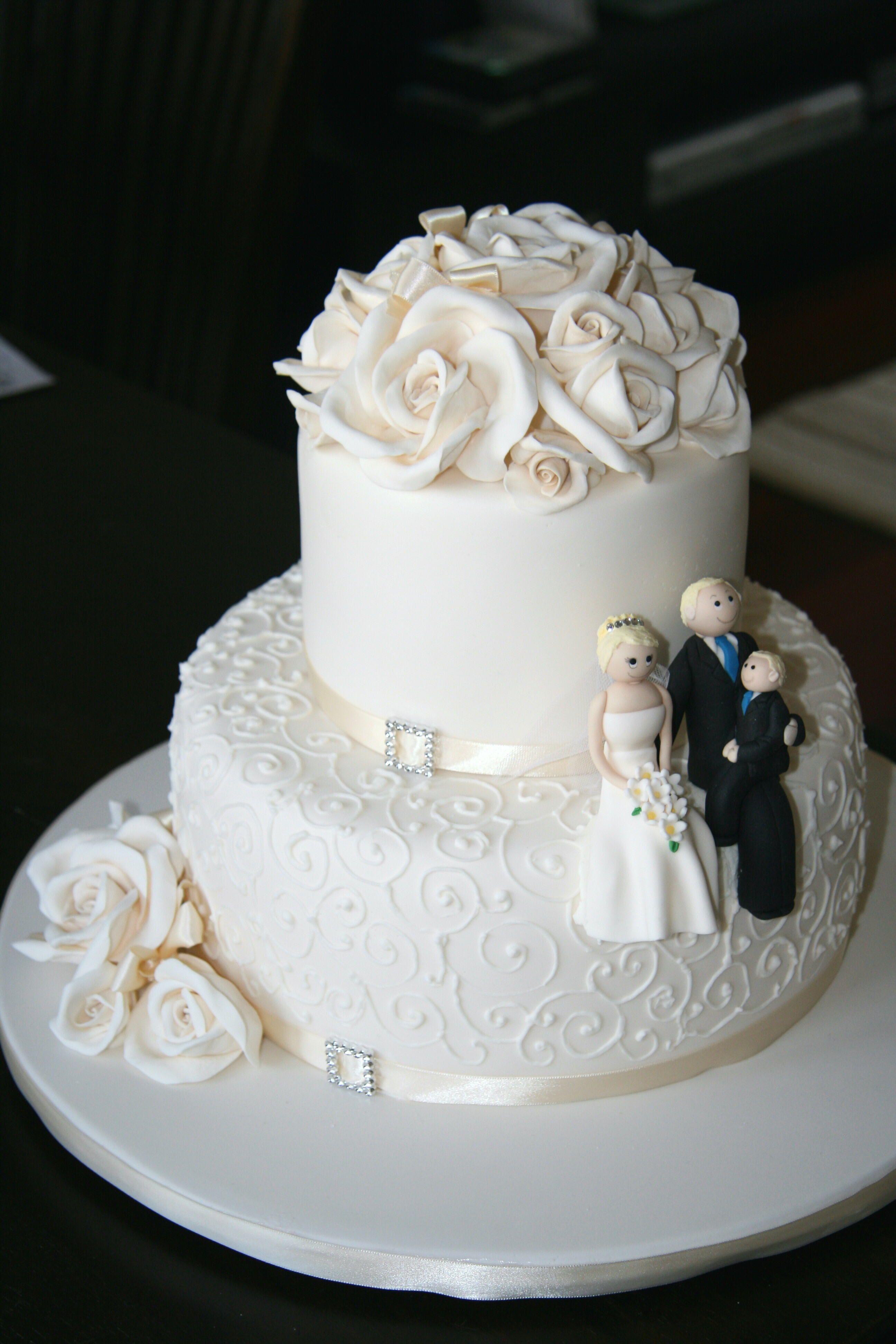 Wedding Cake 2 Tiers Bolo De Casamento Bolos Decorados Bolo