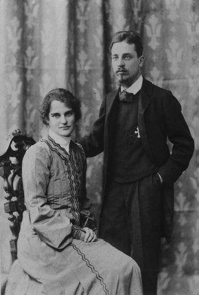 Rainer Maria Rilke y su amante Lou Andreas-Salome