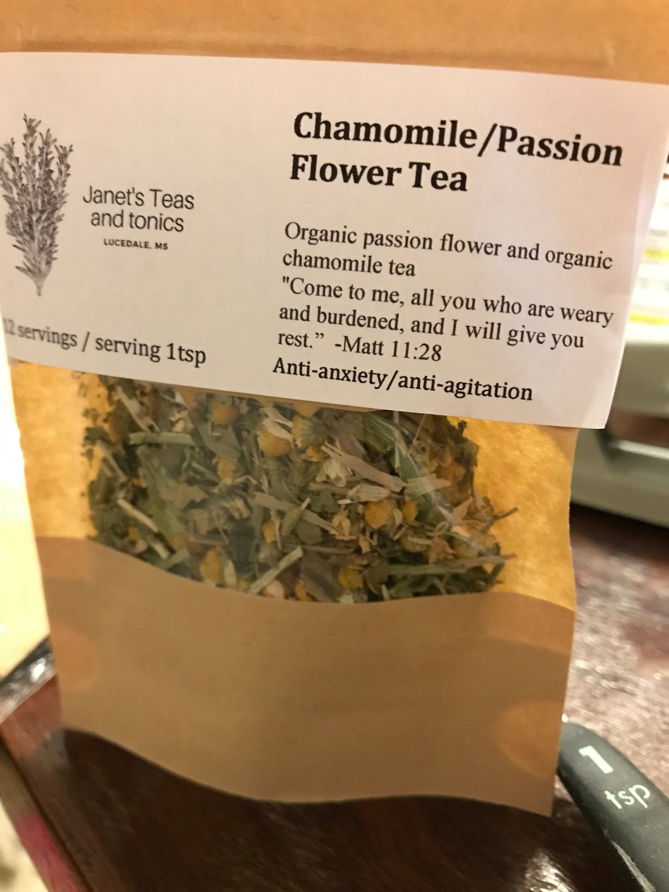 Chamomile Passion Flower Tea 12 Servings By Butterflycreationsms On Etsy Passion Flower Tea Passion Flower Tea