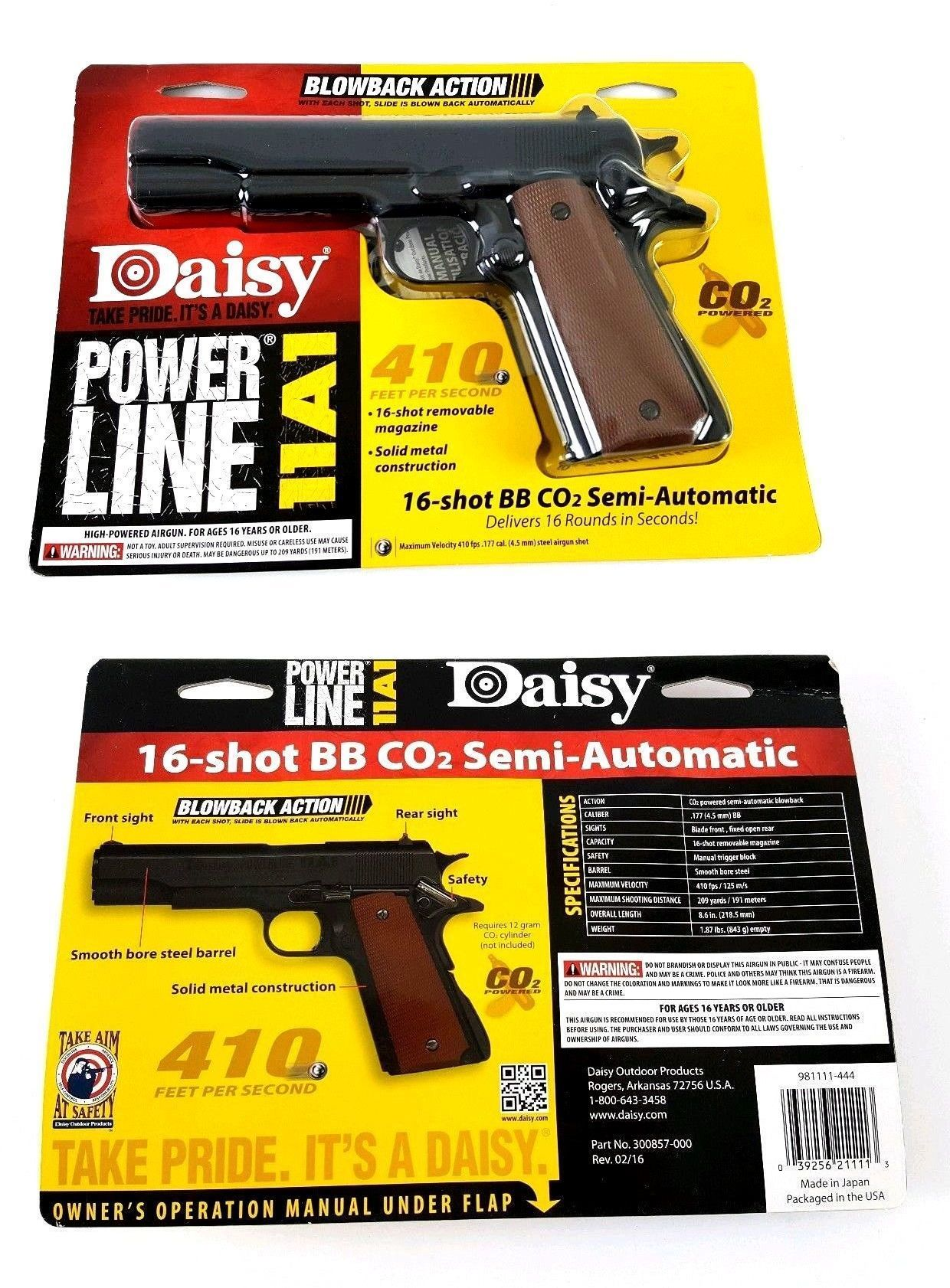 Air Pistols 178887: Daisy Powerline Semi-Automatic Airgun