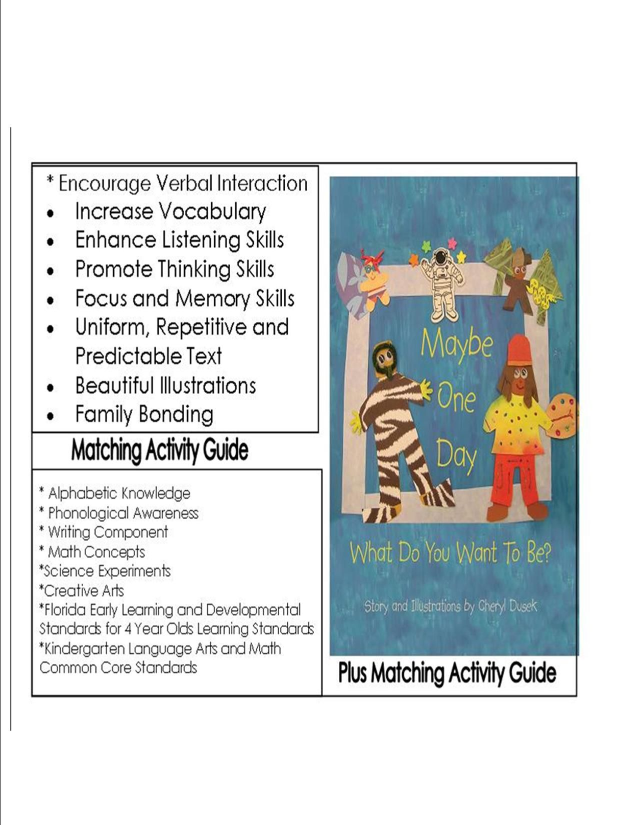 Activity Guide Is Aligned With Florida Early Learning