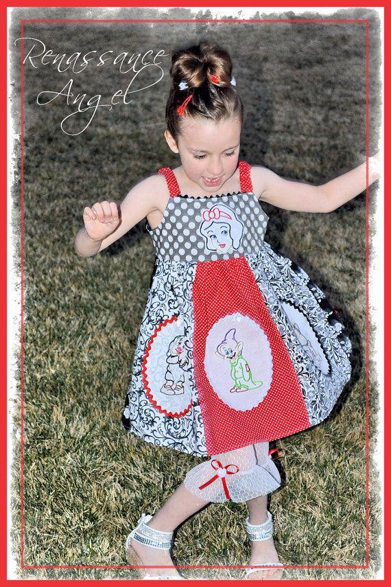 Renaissance Angel Custom Girls Boutique Snow White Applique Twirl ...