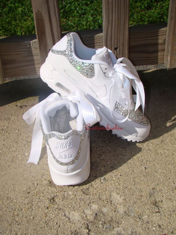 reputable site 7ab3c f2e13 Strass Bling personnalisé Nike Air Max 90 avec par Customshoesbiu