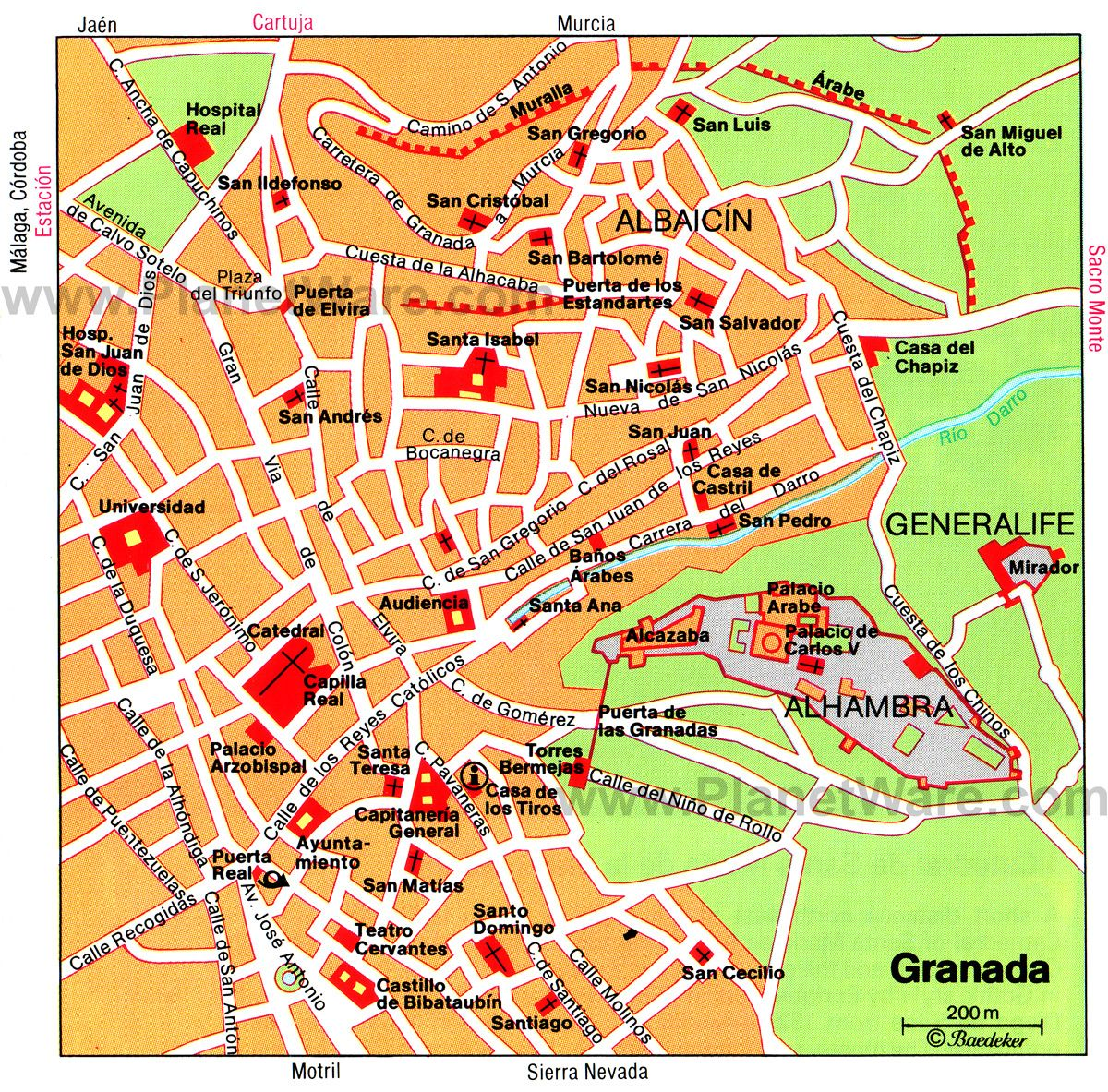 Granada Map - Tourist Attractions | Southern Spain in 2019 ... on map of maspalomas spain, map of porto spain, map of torrejon spain, map of la manga spain, map of spain major cities, map of santander spain, map of toledo spain, map of irun spain, map of rioja region spain, map of ciudad real spain, map of palamos spain, map of santillana spain, map of priorat spain, map of gava spain, map of ribera del duero spain, map of cadiz spain, map of nerja spain, map of sanlucar spain, large map of spain, map of spain with regions,