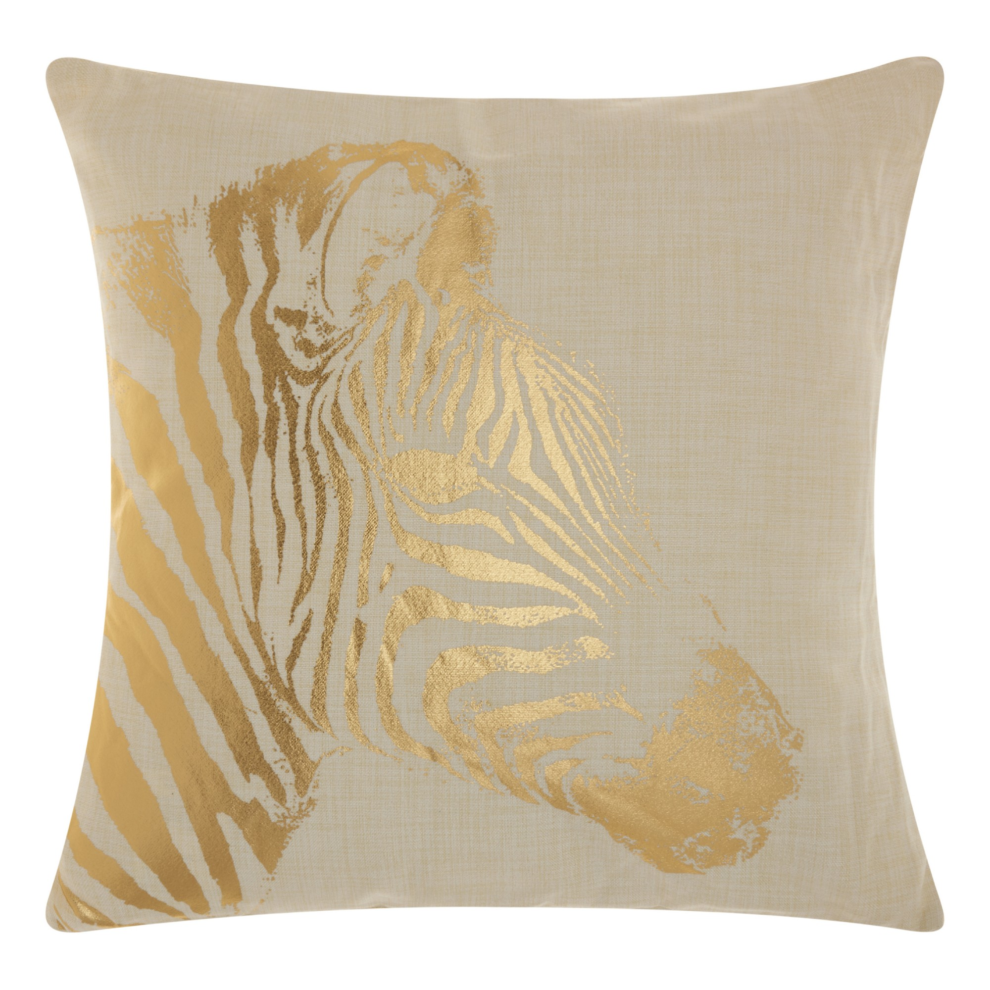 Astonishing Light Gold Zebra Stripe Throw Pillow Mina Victory Uwap Interior Chair Design Uwaporg