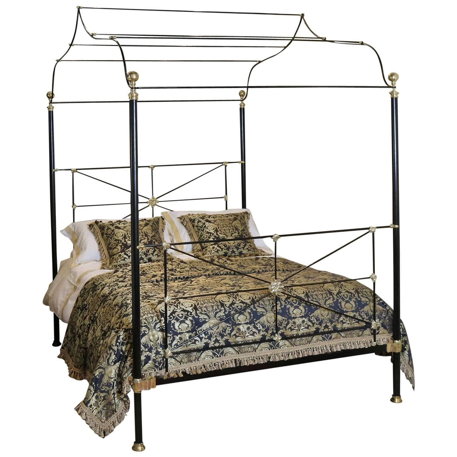 Campaign four poster bed modern bedroom furniture light fittings