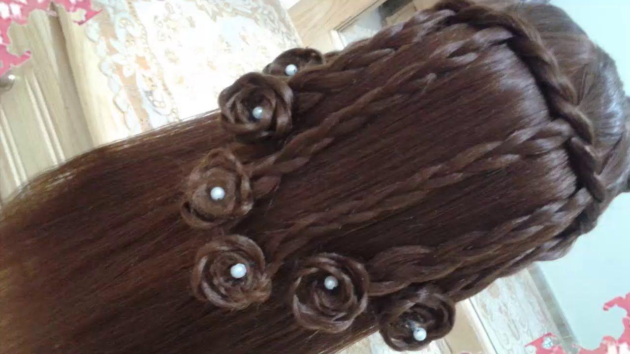 peinados con rosas sencillos y faciles para cabello largo bonitos y rapi - Peinados Sencillos Y Faciles