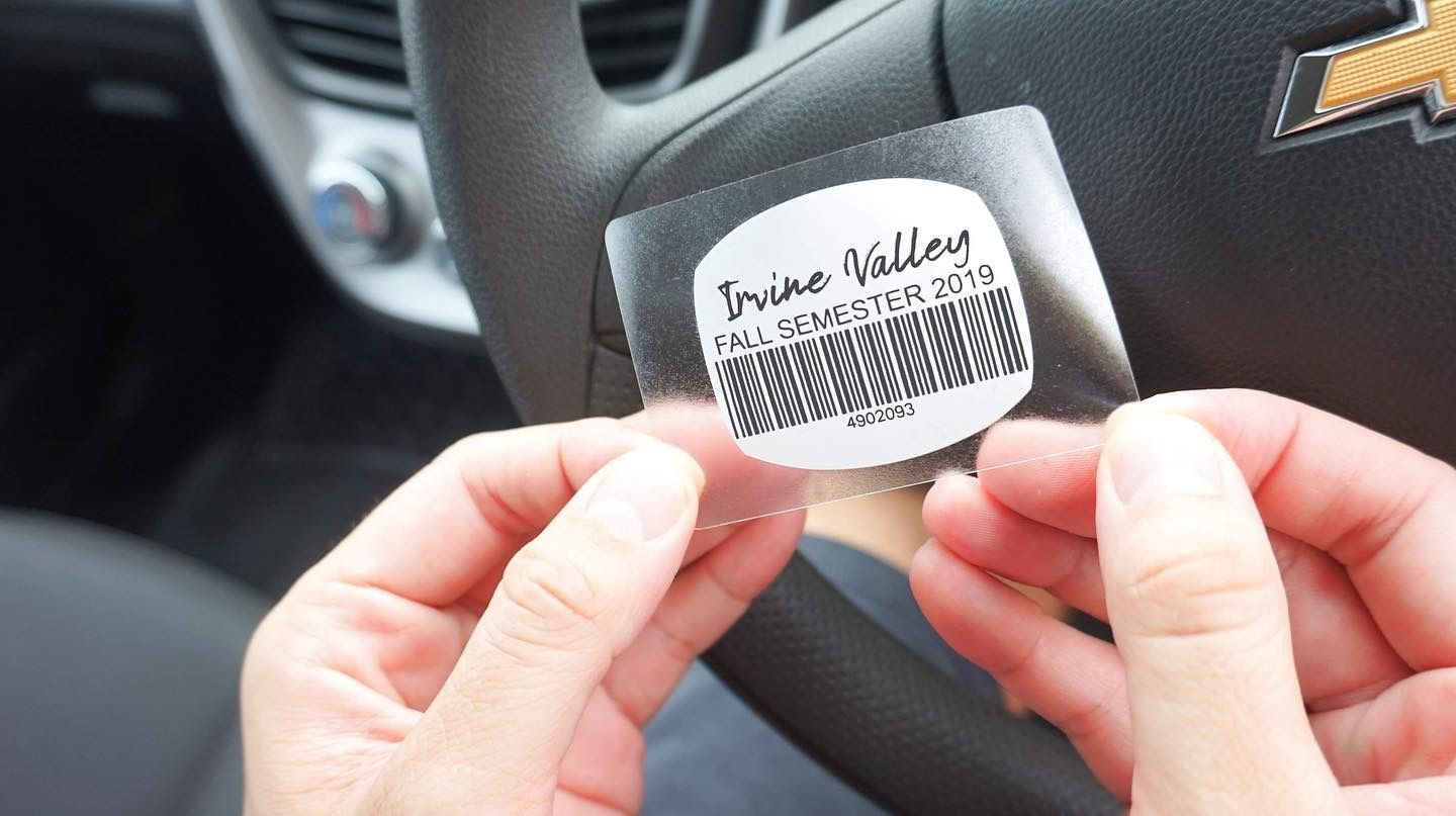 Vehicle Labels Create and print personalized parking permit stickers with our windshield labels