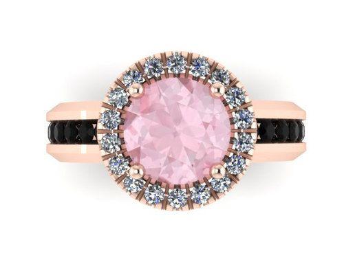Black Diamond Morganite Engagement Ring Gemstone Engagement Birthstone - http://blackdiamond-rings.com/black-diamond-morganite-engagement-ring-gemstone-engagement-birthstone/