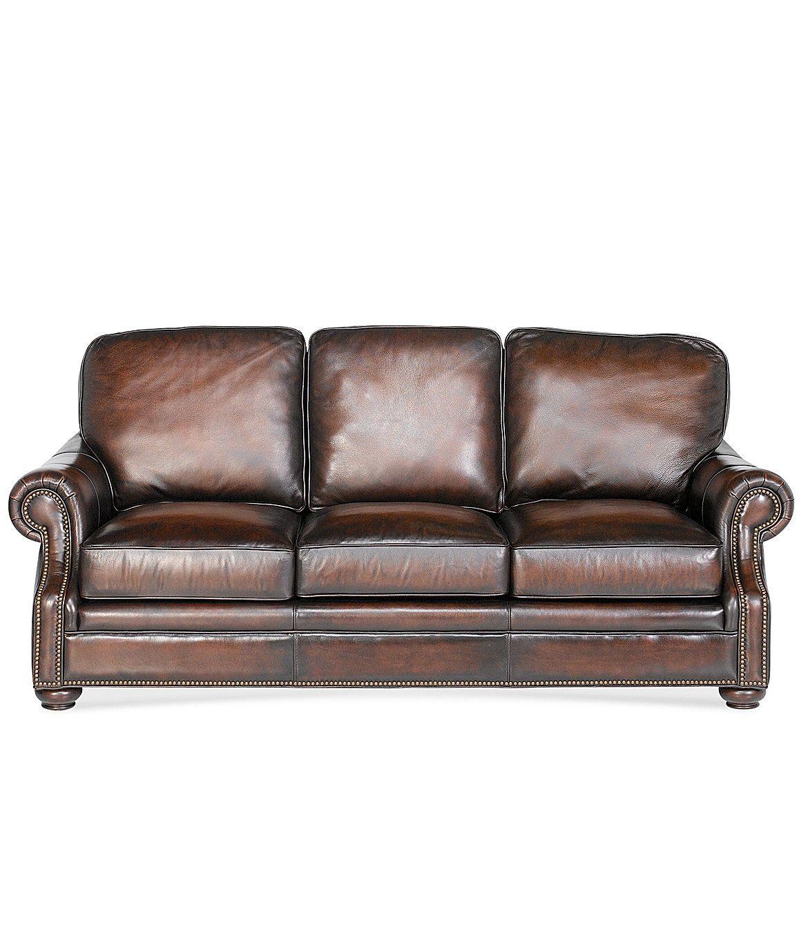 """Dillards Furniture Sale: Bradington Young """"Chateau"""" Leather Sofa"""