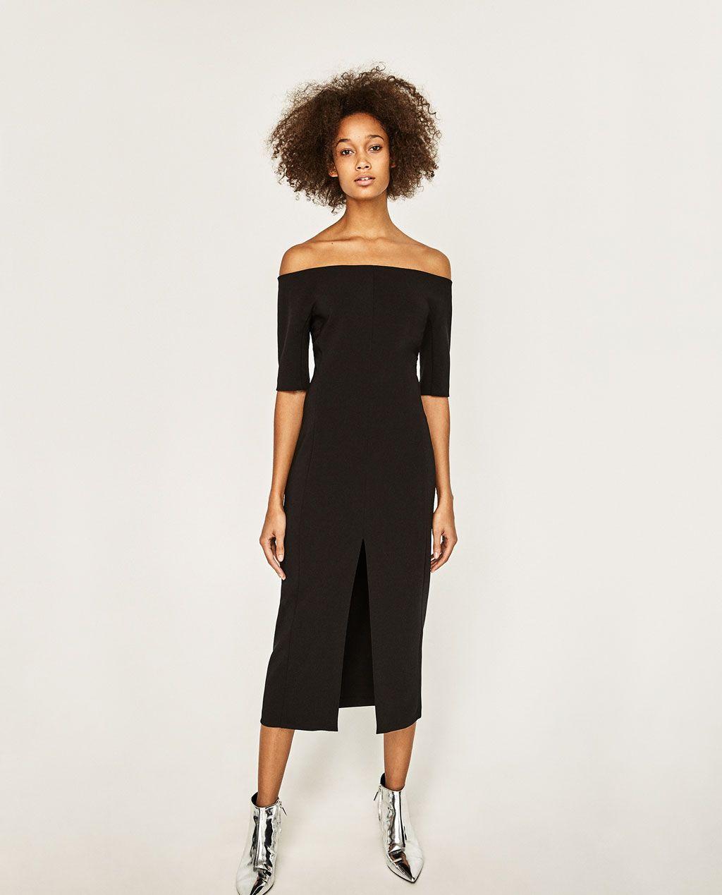 bf83b1d13b65 Zara Sale - But First Koffee Black Dresses Uk