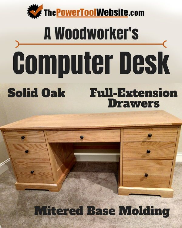 Beginner Woodworking Computer Desk Nothing Fancy Straight