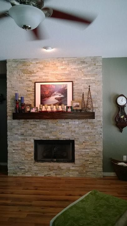 Seven Foot Modern Rustic Fireplace Mantel 84 Inch