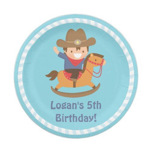 Cute Western Cowboy Kids Birthday Party Supplies Paper Plate | Cowboy Birthday Party | Pinterest | Western cowboy Cowboy birthday party and Birthdays  sc 1 st  Pinterest & Cute Western Cowboy Kids Birthday Party Supplies Paper Plate ...
