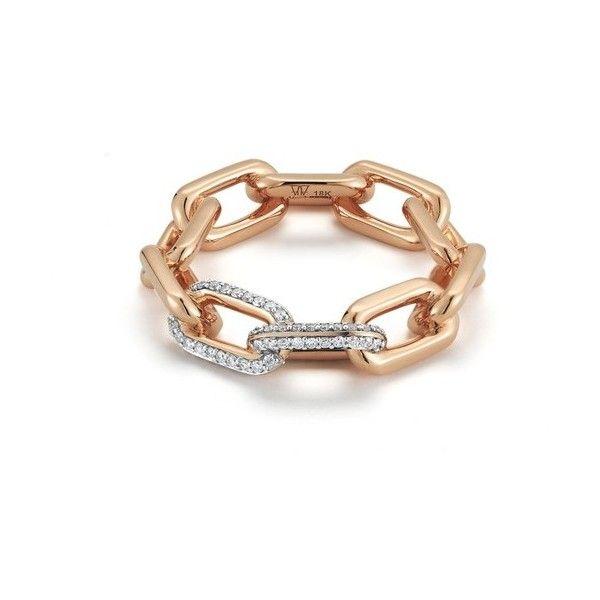 Walters Faith Saxon Large Silver Chain Link Ring kcA9B9