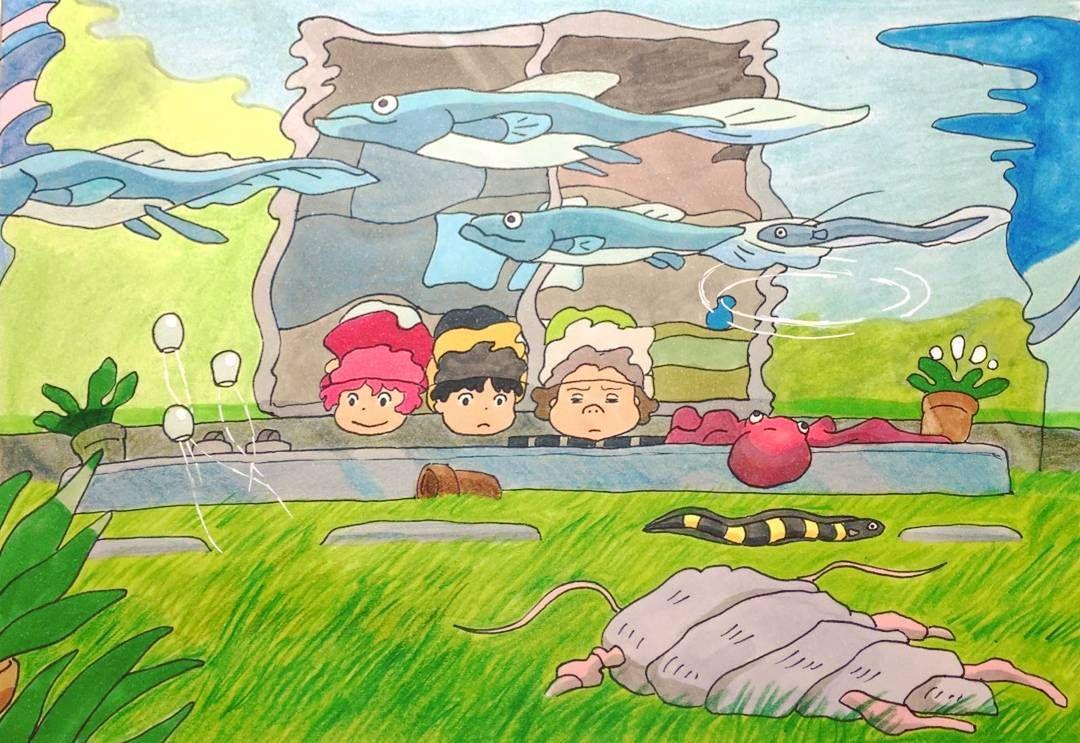 Momongaさんはinstagramを利用しています 絵で夢を叶えるシリーズ 水没した町を覗いてみたい ジブリ Ghibli スタジオジブリ 宮崎駿 崖の上のポニョ Ponyoonthecliffbythesea ポニョ 宗介 古代魚 ジブリ 古代魚 ポニョ