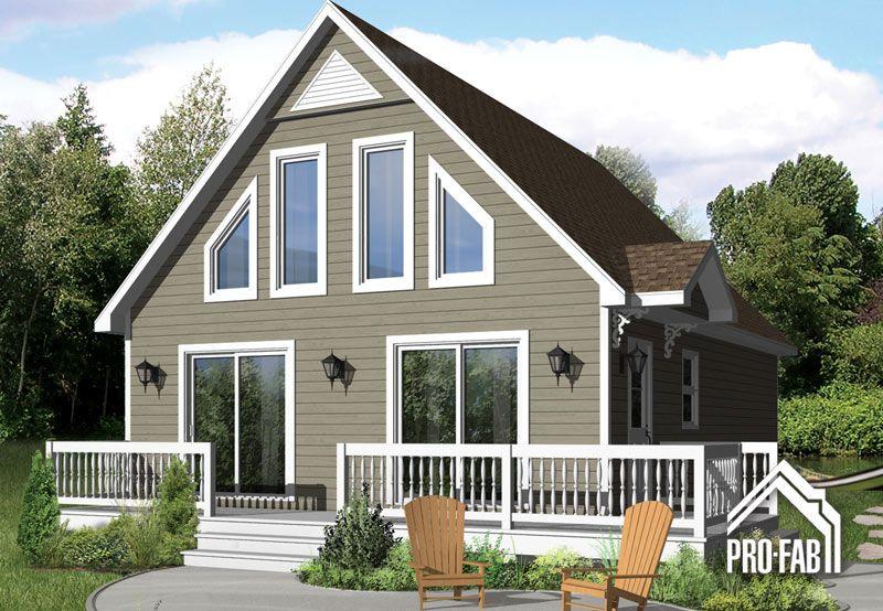 Pro fab constructeur de maisons modulaires usin es pr fabriqu es mod le m sange chalet - Constructeur maison modulaire ...