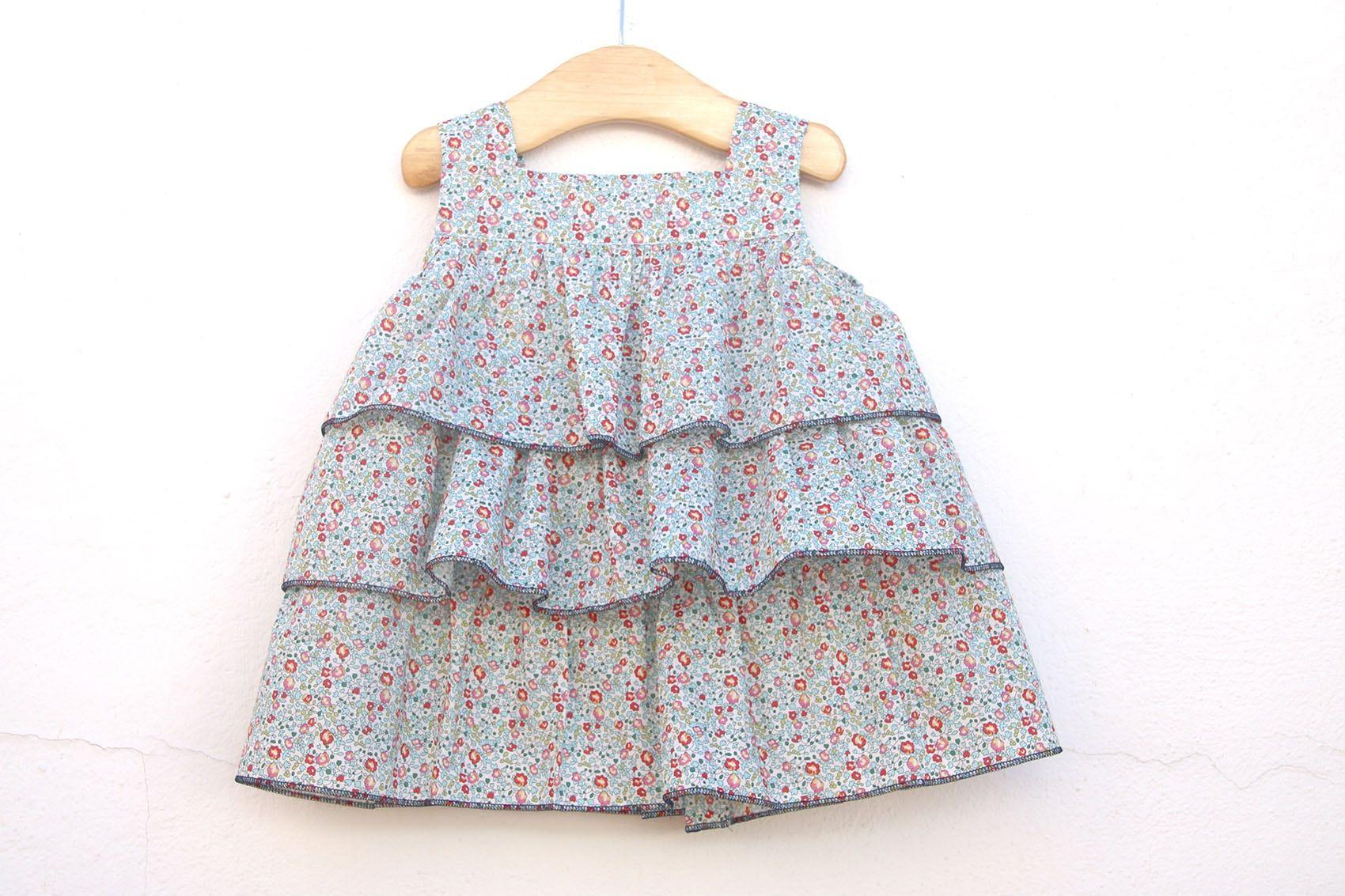 Aprender a coser: vestido de volantes para niñas (patrones gratis ...
