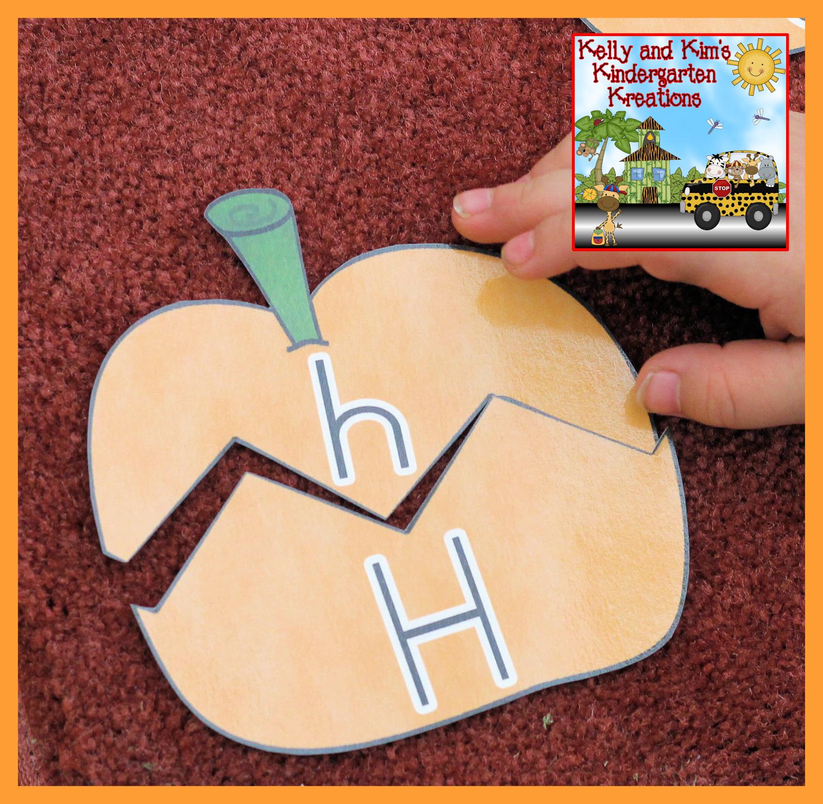 Playful Pumpkins Alphabet Matching Literacy Center For