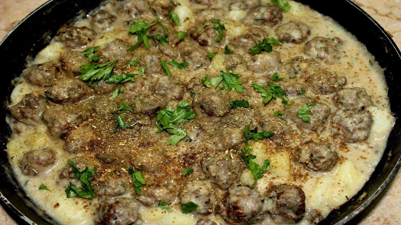 طريقة كفتة الرز بالصوص الابيض وقطع البطاطس Food Beef Meat