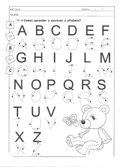 Atividades Para Imprimir Com O Alfabeto Atividades Com O