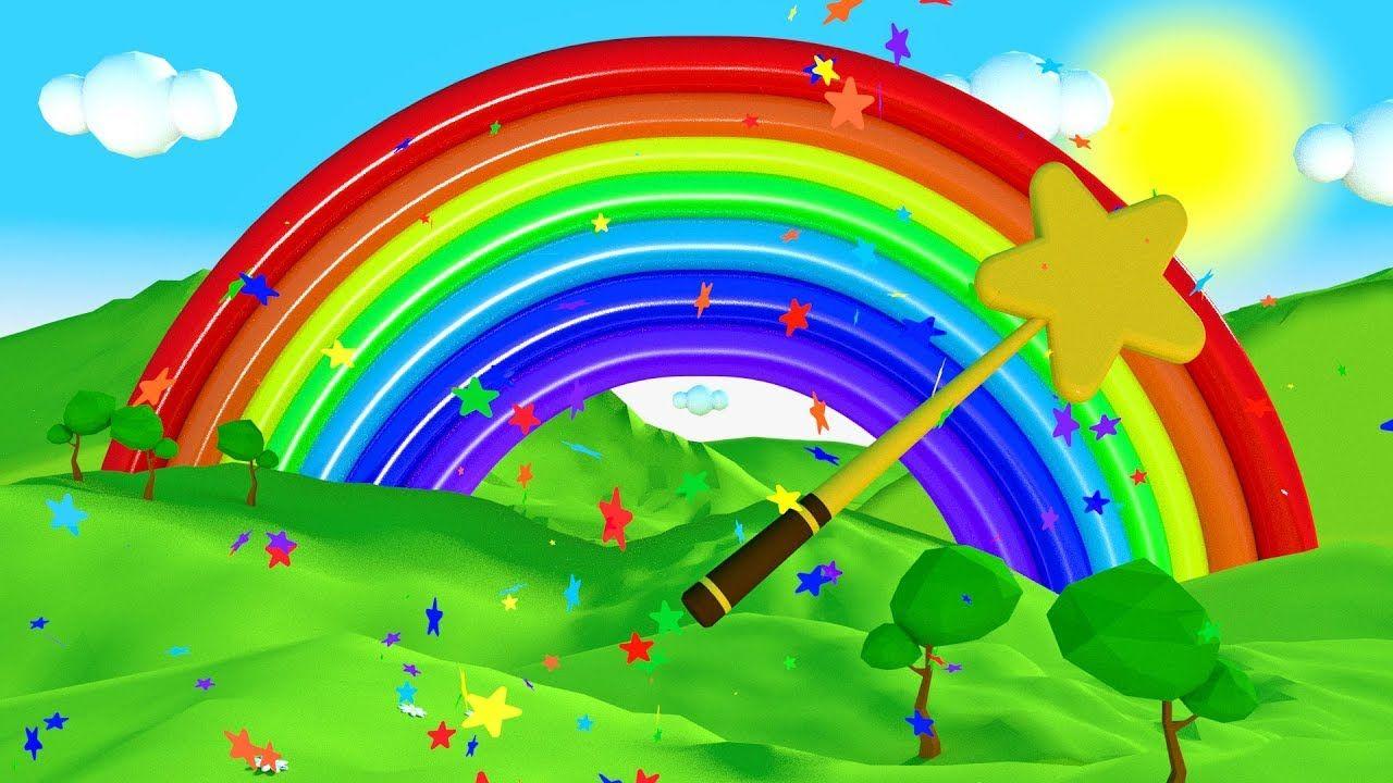 Nauka Kolorow Z Kolorowa Tecza Dla Dzieci Coloring For Kids Learning Colors Kids Learning