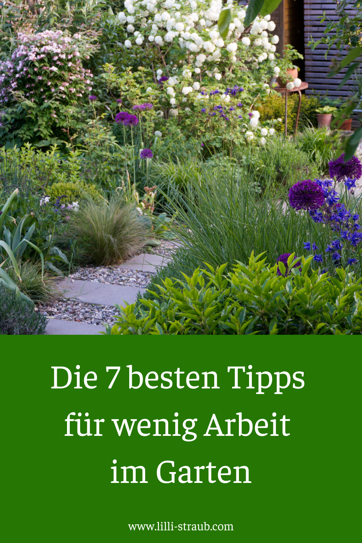 Die 7 besten Tipps für wenig Arbeit im Garten