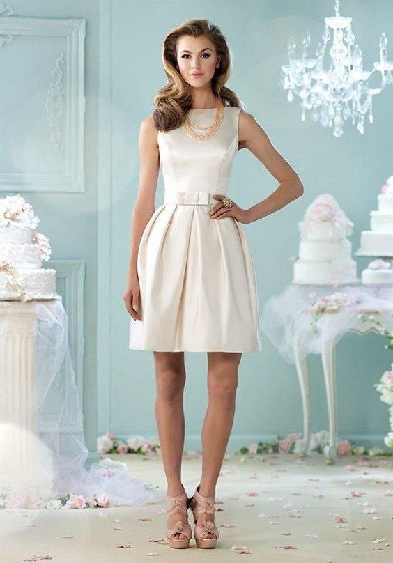40 Prettiest Rehearsal Dinner Short Wedding Dresses | Neckline ...
