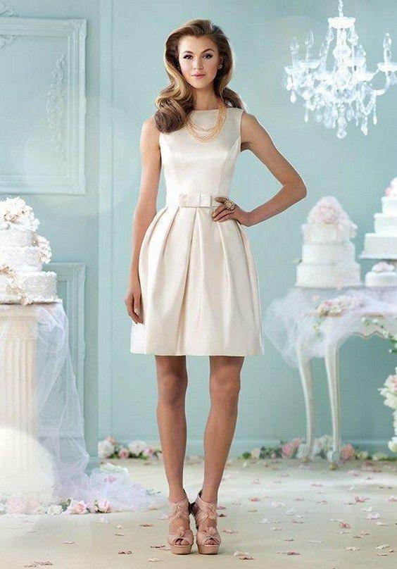 40 Prettiest Rehearsal Dinner Short Wedding Dresses   Neckline ...