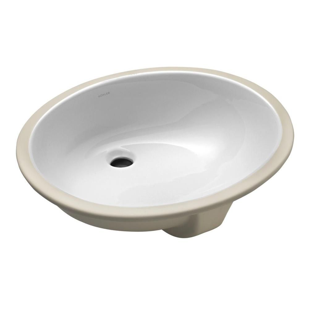 Kohler Caxton Vitreous China Undermount Bathroom Sink In Ice Grey